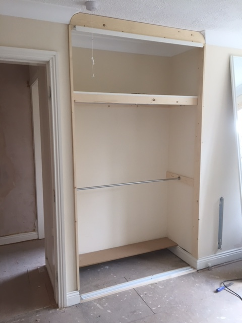 building a built in wardrobe