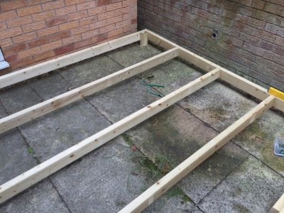 frame for decking