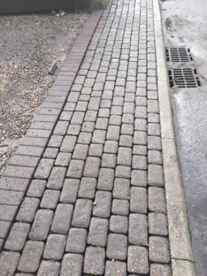 cleaned block paving drive