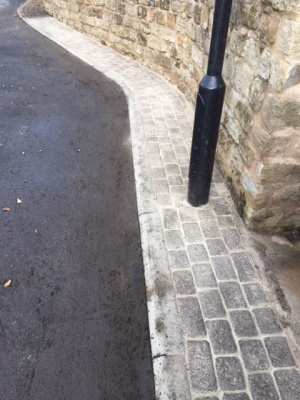 Sanded joints in block paving