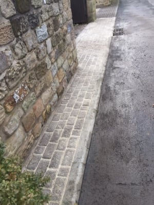 sand in joins of block paving