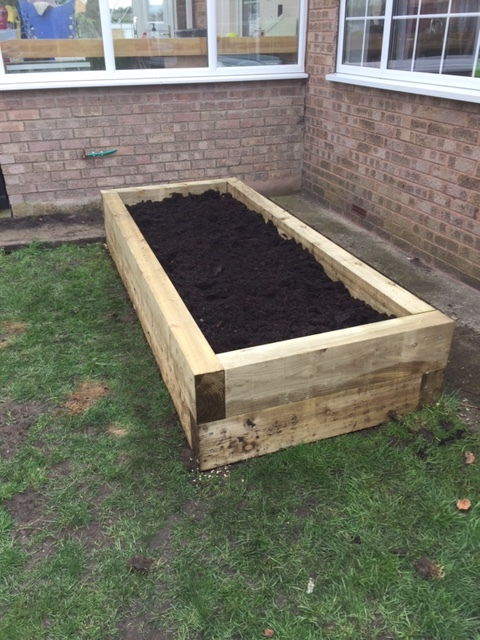 Wooden Sleeper Planter